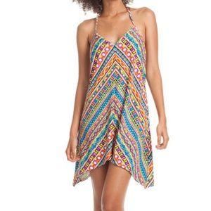 Trina Turk Peruvian Striped Halter Short Dress XS